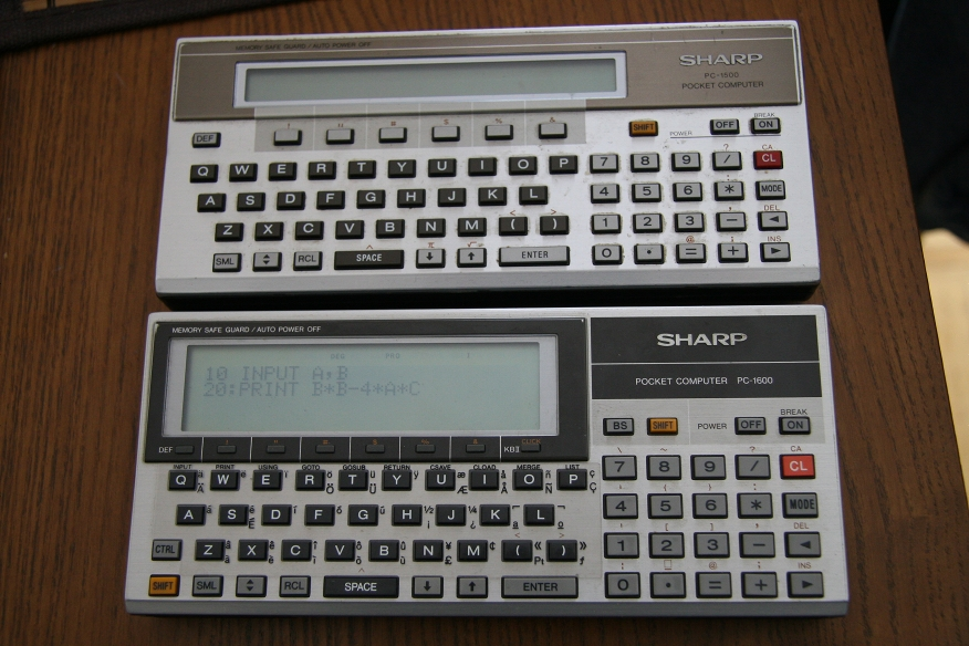 Sharp PC-1500 and PC-1600
